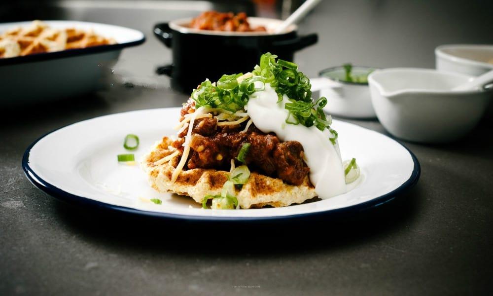 Chile Breakfast Waffles
