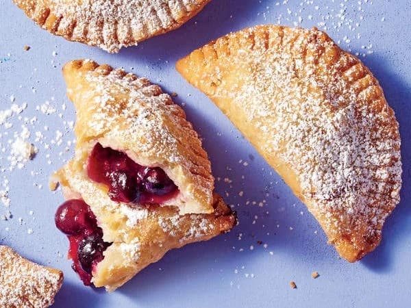 Fried Pie with Blueberries and Ginger