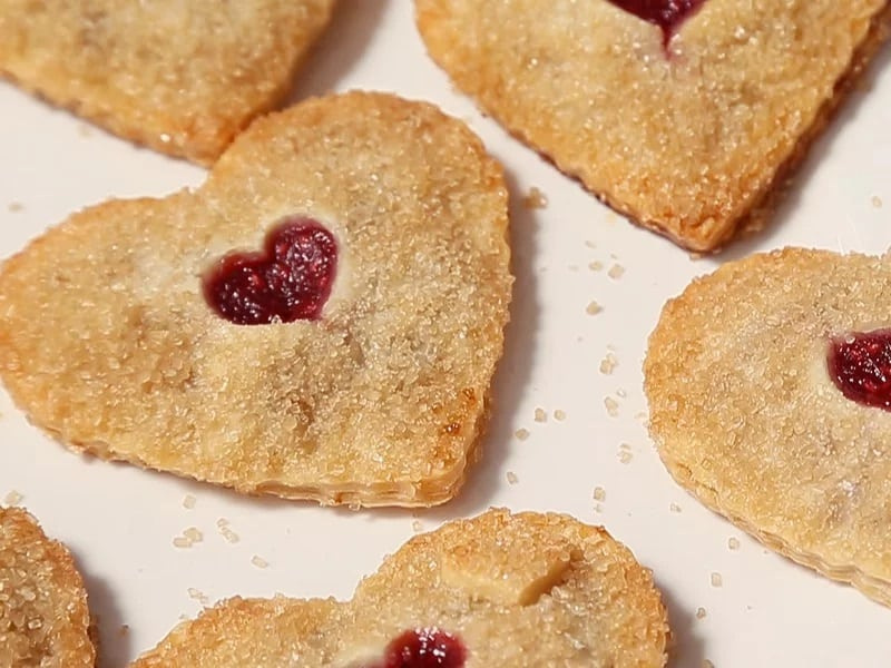 Heart Fried Pie with Raspberry and Lemon
