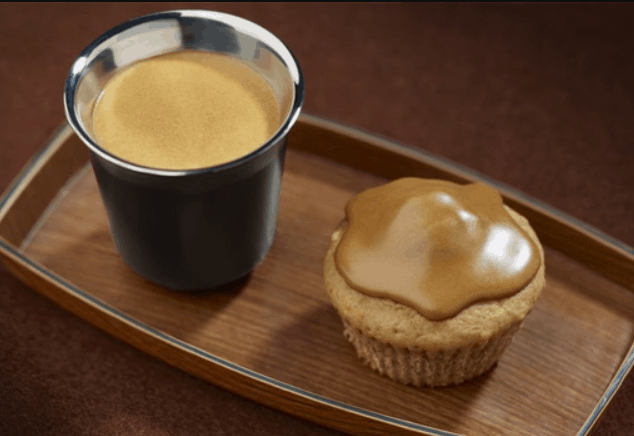 Coffee and chestnut muffins with Nespresso