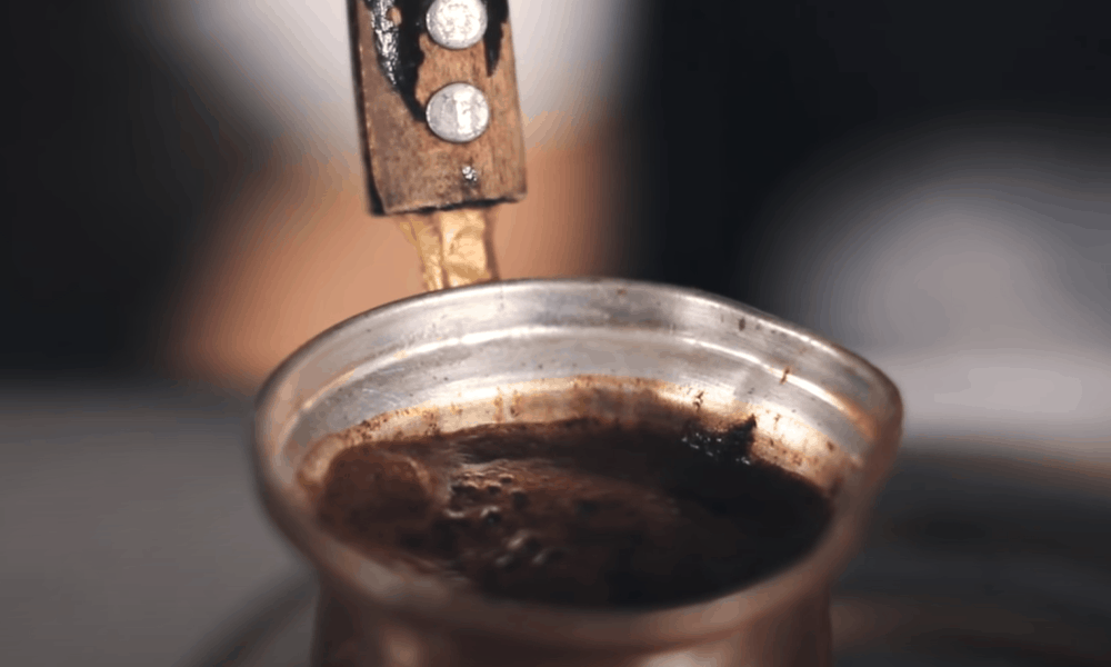 Continue to cook the coffee at a low temperature