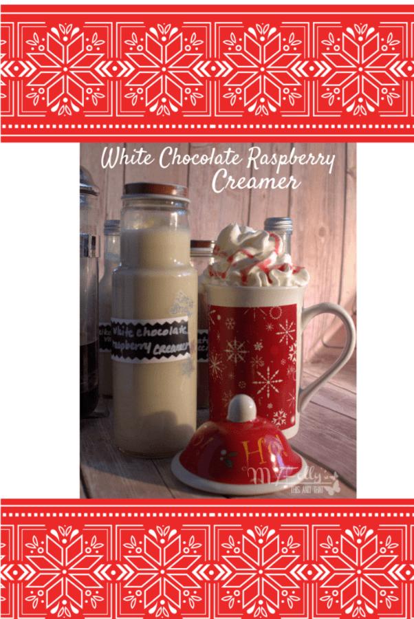 The White Chocolate Raspberry Coffee Creamer