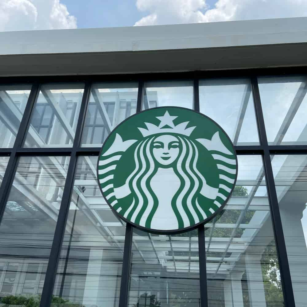 The present-day Starbucks logo was created in 2011