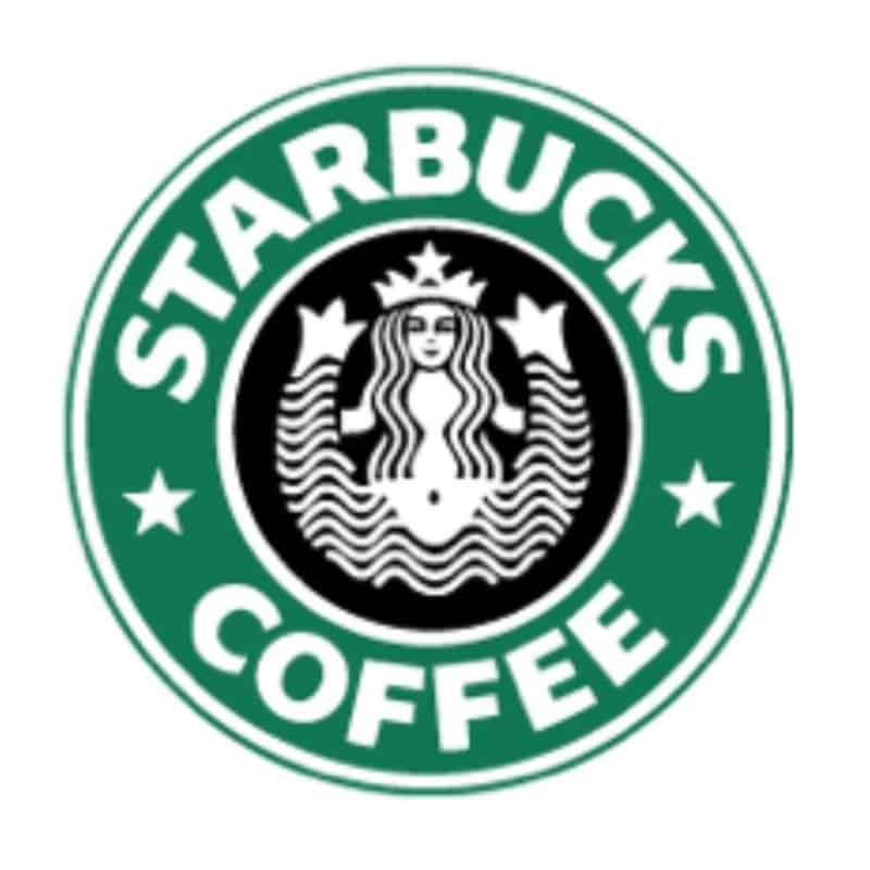 The second version Starbucks Logo appeared in 1987