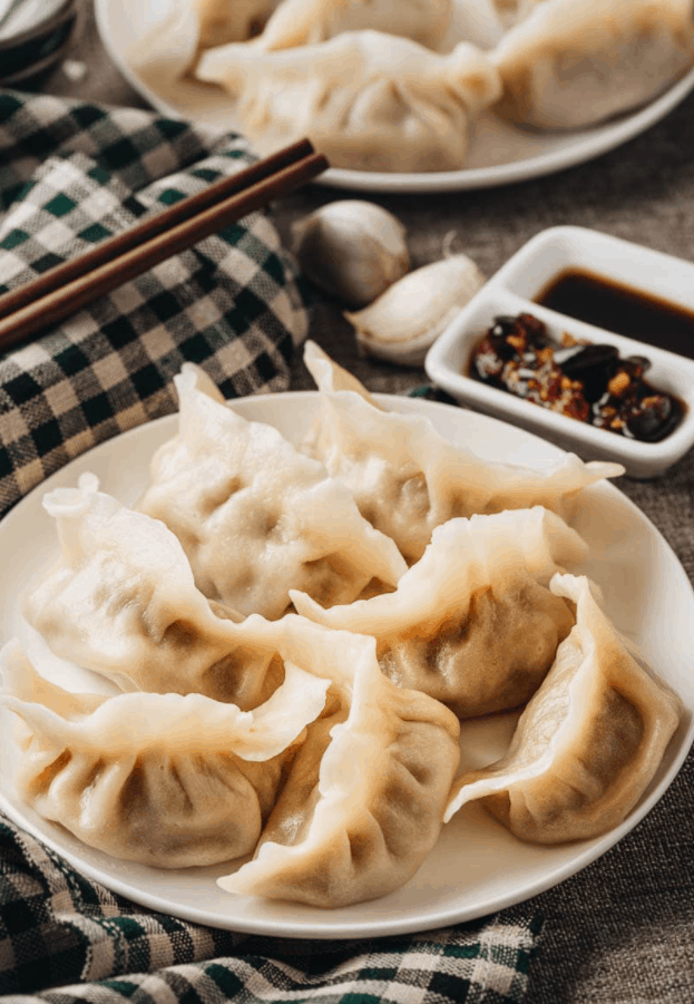 Chinese Street Food Jiaozi (Chinese Dumplings)