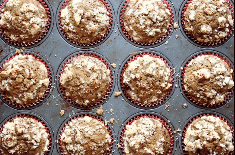 Coffee muffins with vanilla