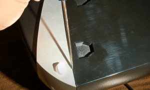 Finish removing the base plate