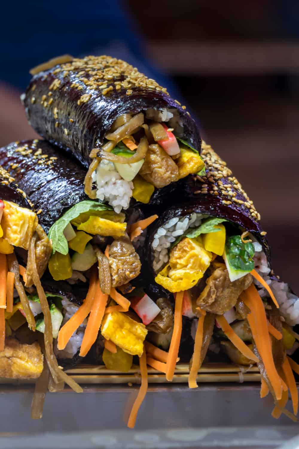 Korean Street Food Mayak Gimbap