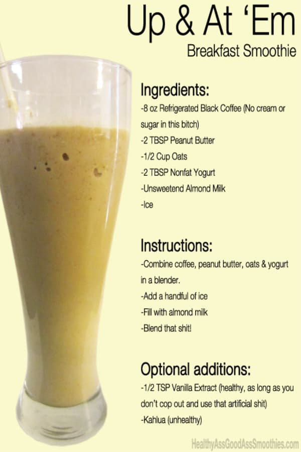 No need for bananas in this breakfast smoothie