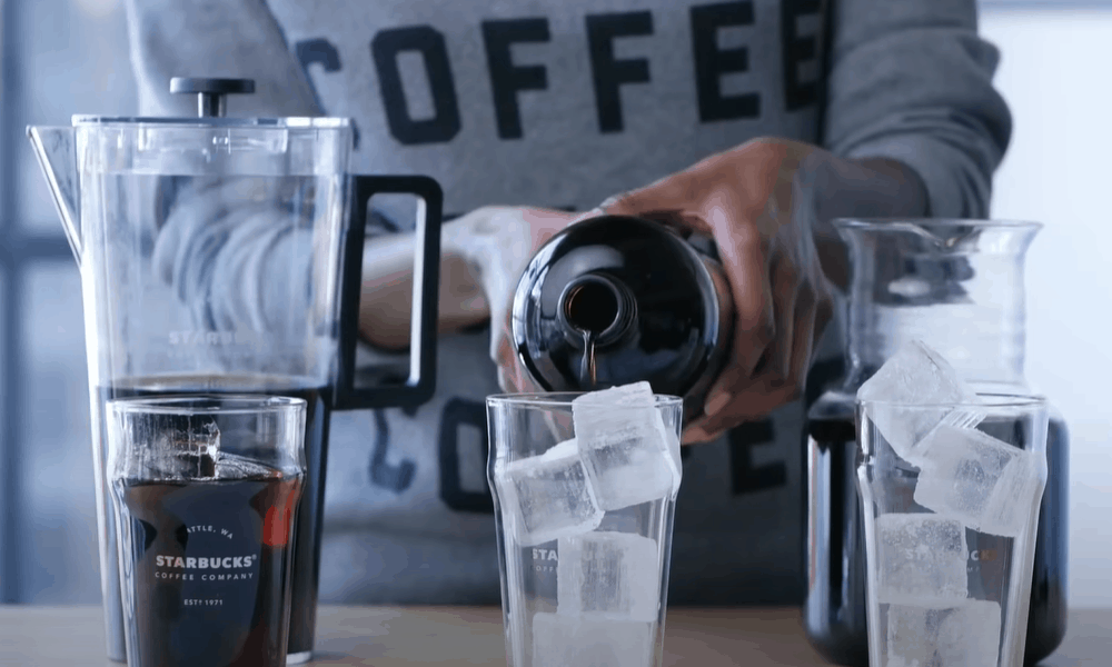 Serve your cold brew coffee