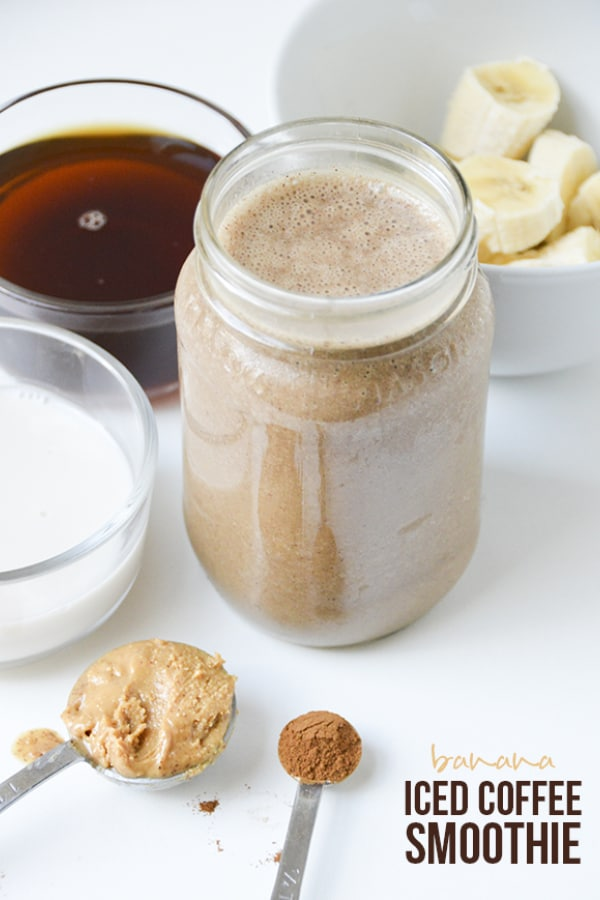 Try a banana iced coffee shake for a healthier option