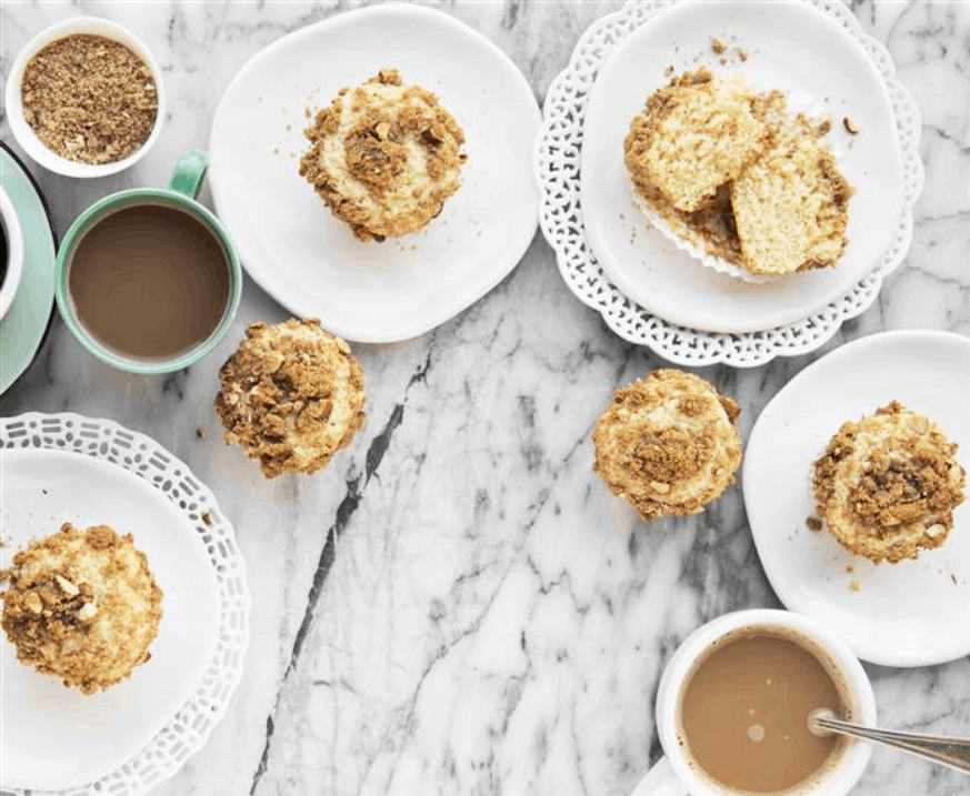 Versatile almond crumble coffee cake muffins