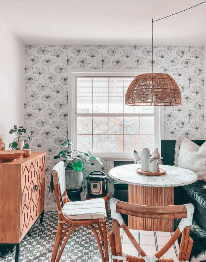A Boho-Style Breakfast Nook Packed with DIY Money-Saving Hacks