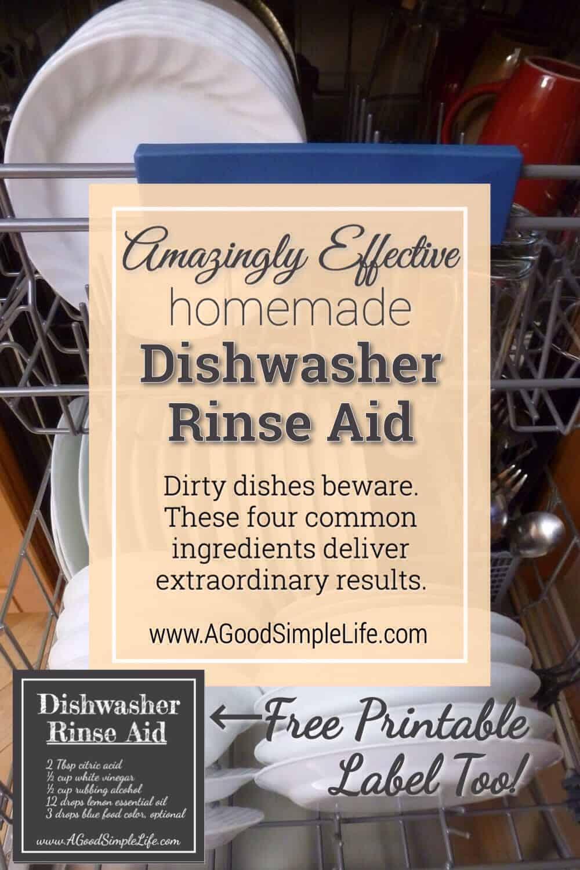 Amazingly Effective DIY Dishwasher Rinse Aid