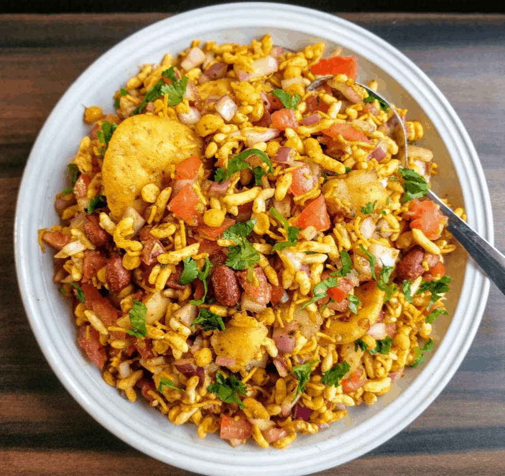 Asian Street Food Bhel Puri, Mumbai, India