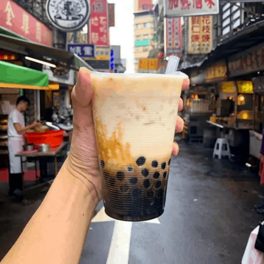 Asian Street Food Bubble Milk Tea, Taipei, Taiwan