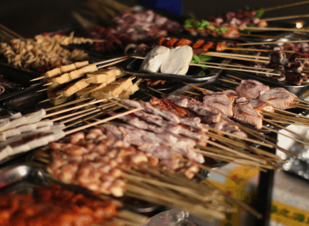 Asian Street Food Chuanr – Street Barbecue, Beijing, China
