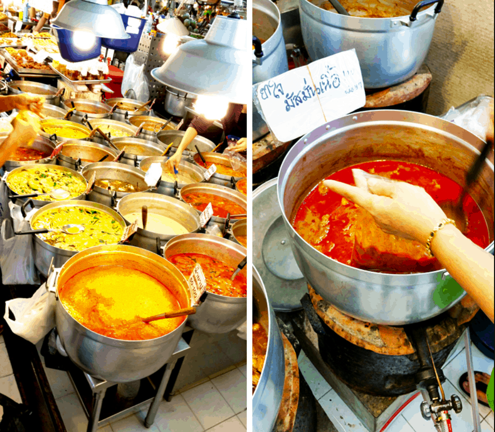 Bangkok Street Food Khao Gaeng (Curry with Rice)