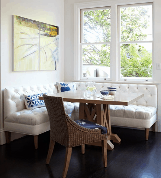Build A Trendy DIY Breakfast Nook on a Budget