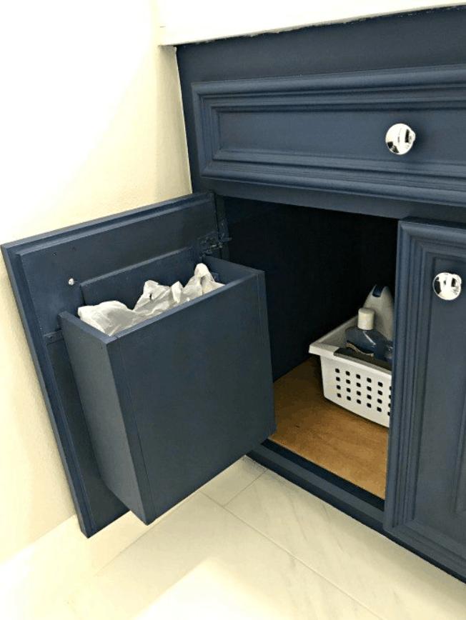 Build a DIY Cabinet Door Garbage Can