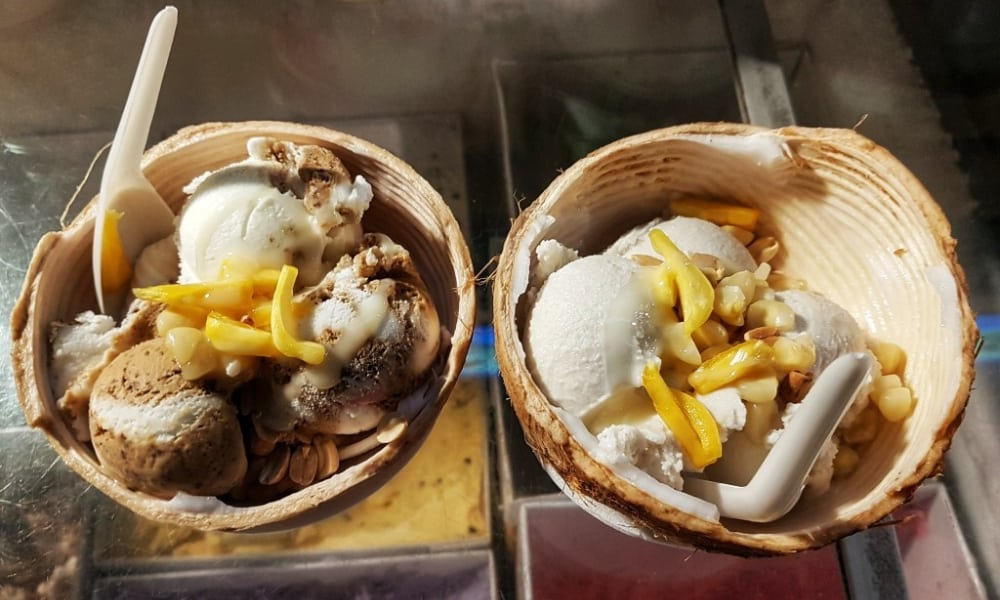 Cambodian Street Food Coconut Ice Cream