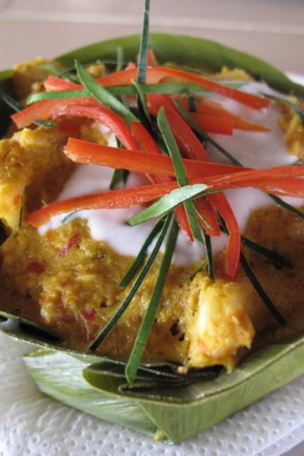 Cambodian Street Food Fish Amok