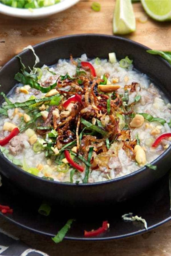 Cambodian Street Food Rice soup 1