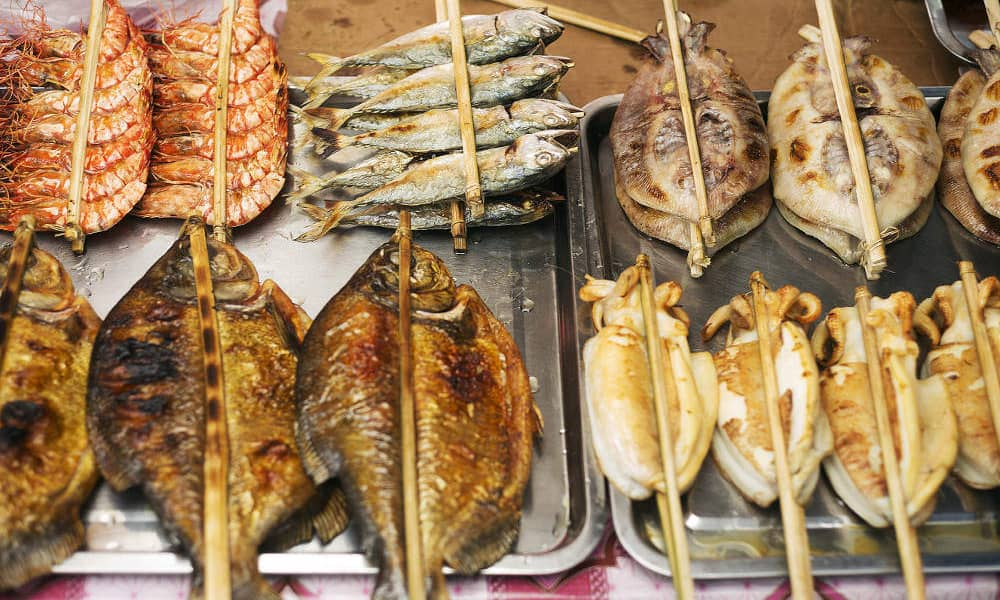 Cambodian Street Food Seafood Barbecue