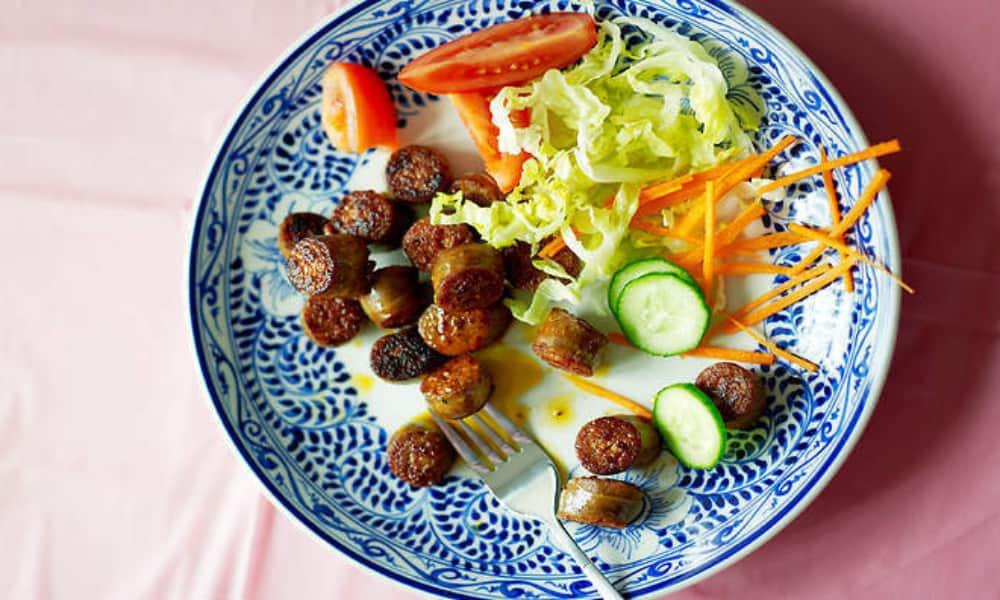 Cambodian Street Food Sweet Pork Sausage
