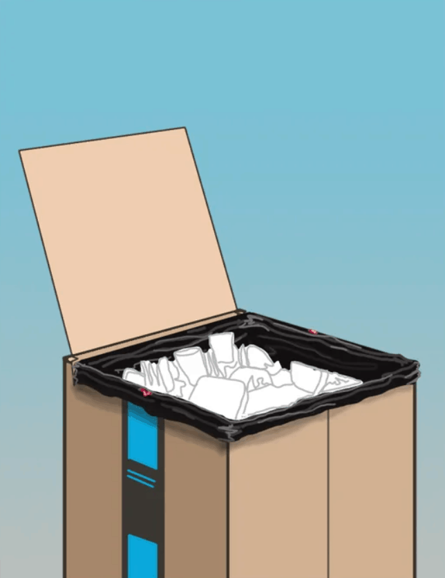 Cardboard Box Garbage Can