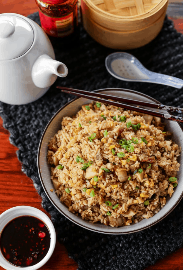 Chinese Street Food Chao Fan (Fried Rice)