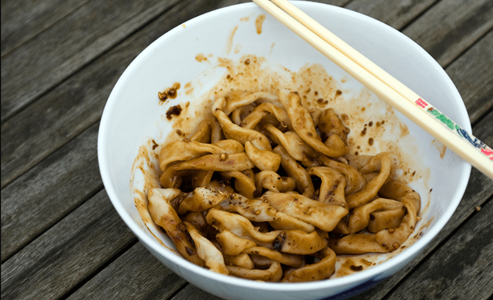 Chinese Street Food Tian Shui Mian (Sweet Water Noodles)