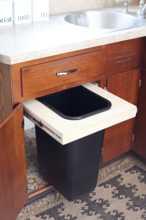 Convert A Cabinet Into A Pull-Out Trash bin