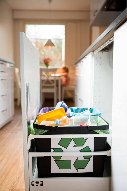 Create a DIY Pullout Trash Cabinet