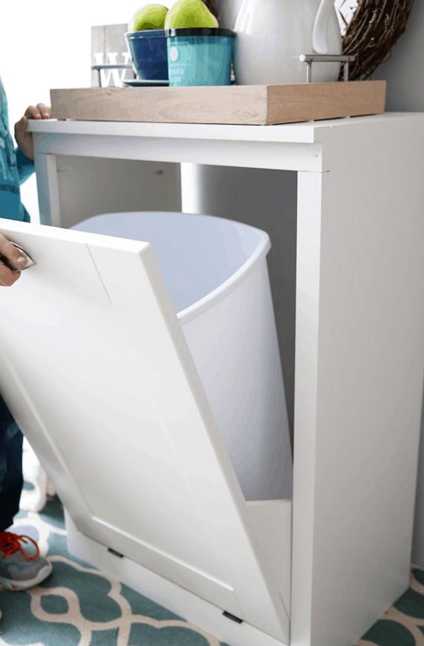 Custom Tilt-Out Trash Cabinet