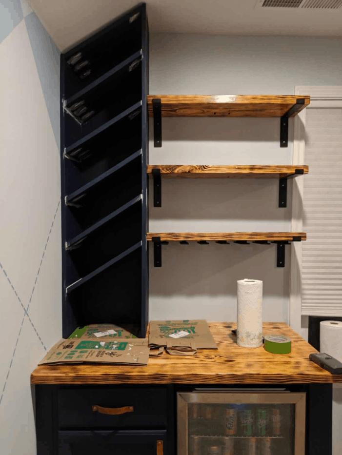 DIY Built-In Wine Rack