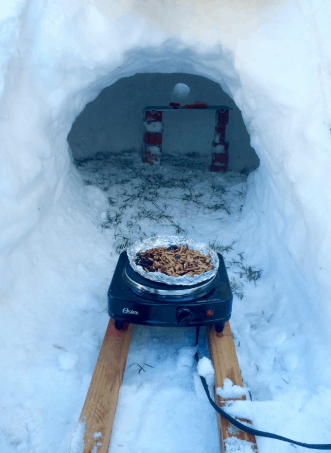 DIY Cold Smoking in an Igloo (Snow Cave)
