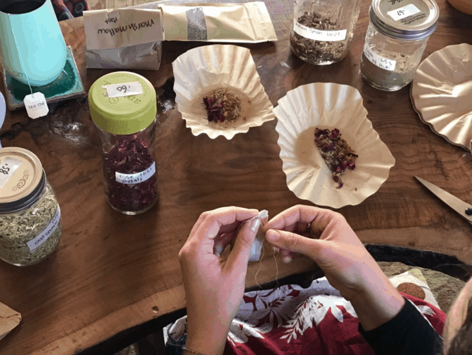 DIY Compostable Tea Bags
