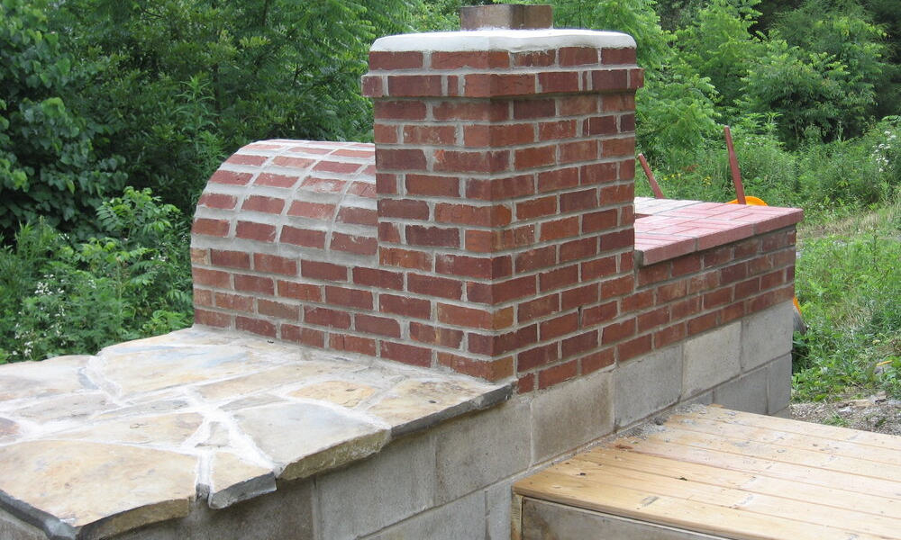 DIY Off-Grid Outdoor Kitchen with Brick Oven and Grill