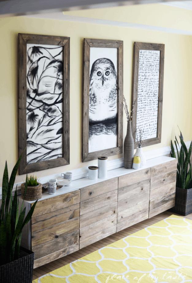 DIY Reclaimed Wood Buffet Ikea Hack