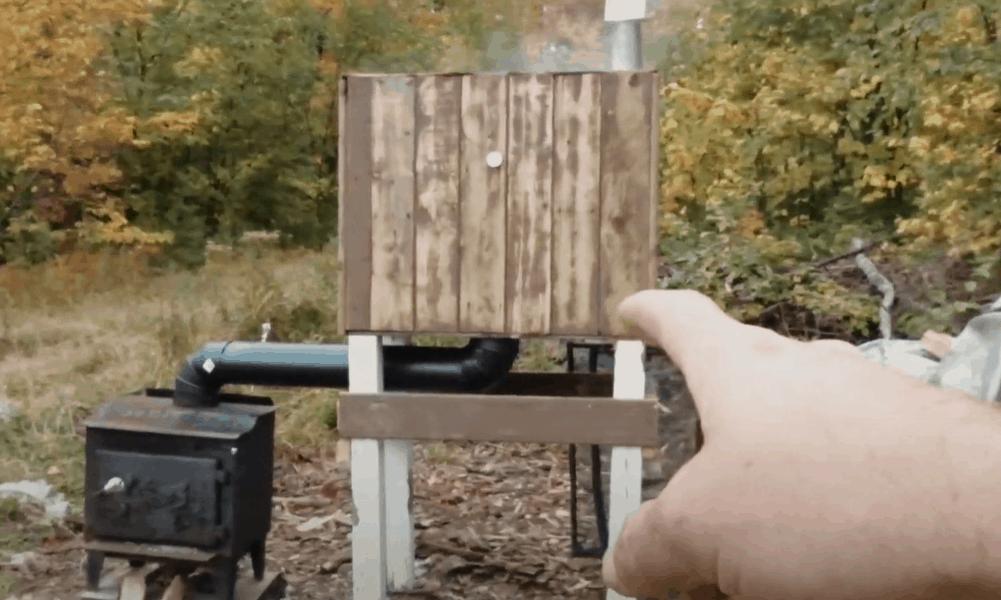DIY Smoker - Our Woodstove Meat Smoker