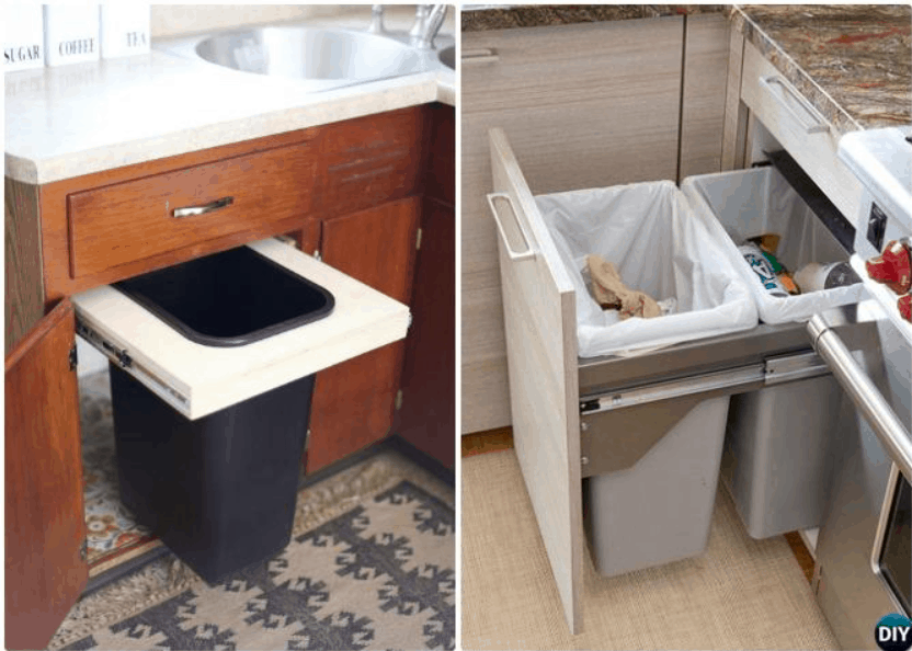 DIY Trash Can Cabinet Project
