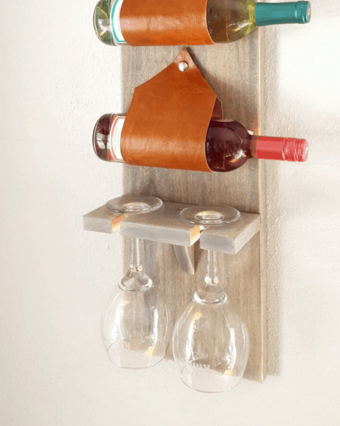 DIY Wine and Stemware Rack Tutorial