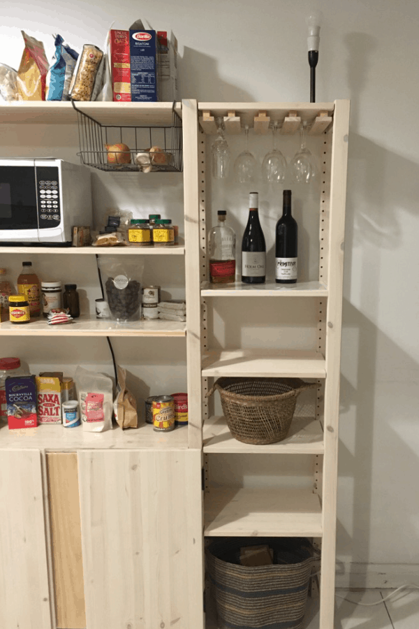 DIY Wooden Wine Glass Rack to fit the Ikea Ivar