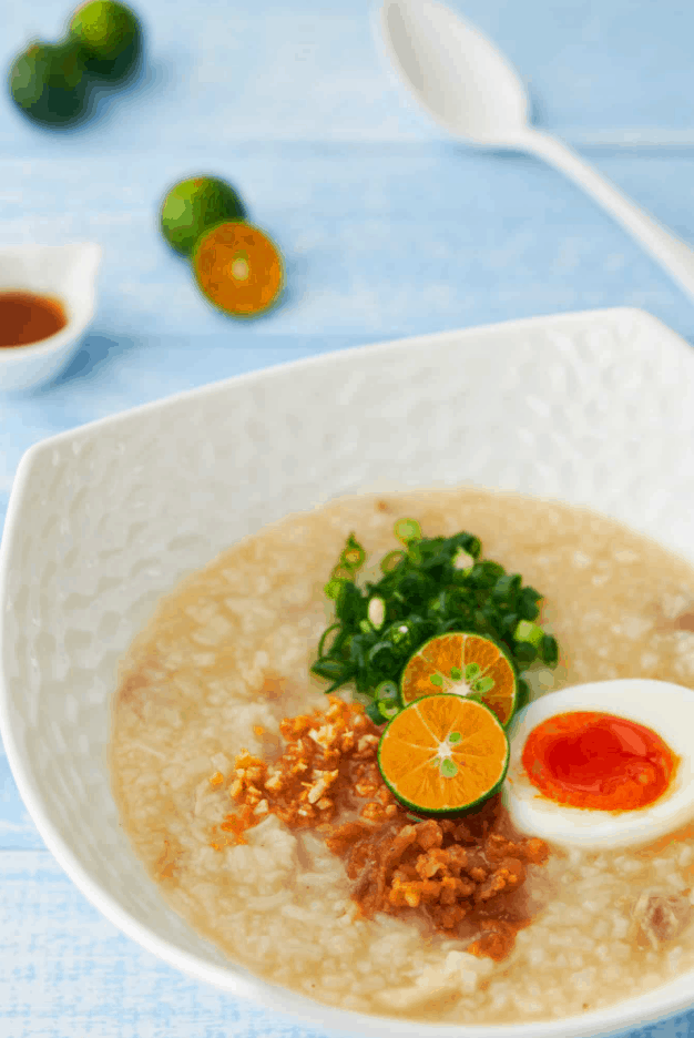 Filipino Street Food Arroz Caldo