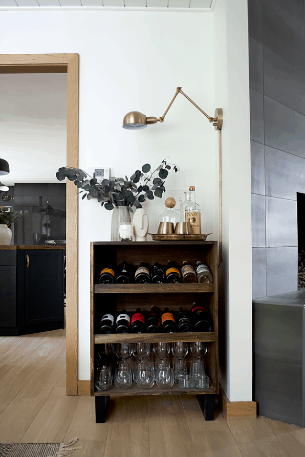 How to Build a Modern Standing Wine Rack