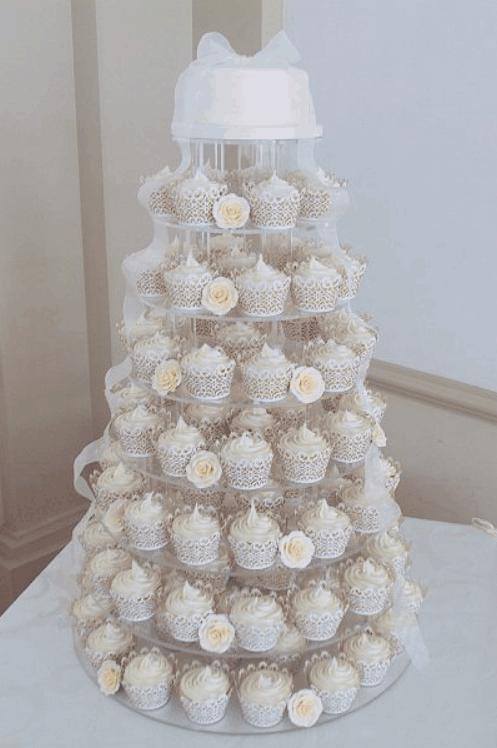 How to Create a Wedding Cupcake Tower