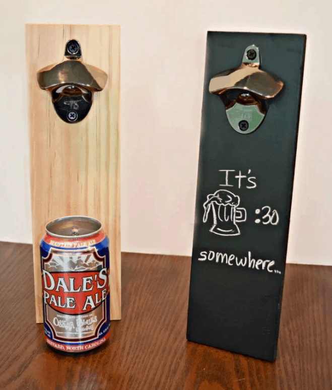 How to Make a DIY Wall Mounted Beer Bottle Opener