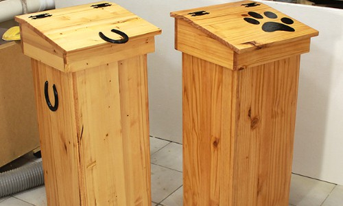 How to Make a Wooden Trash Can