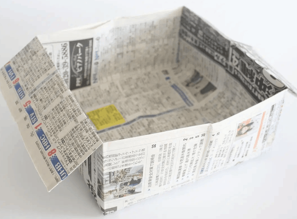 How to Make an Origami Trash Bin